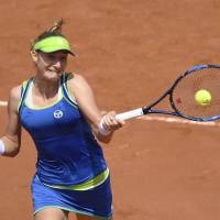 Makarova stuns top-ranked Kerber in first round
