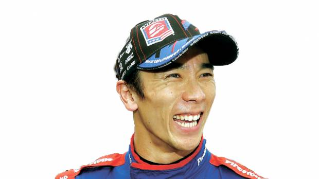 Sato competing for pole position at Indy 500
