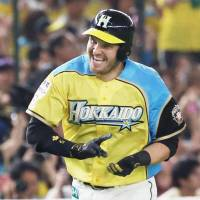 Fighters' Laird matches NPB mark with homers in four consecutive at-bats, doing so over two days