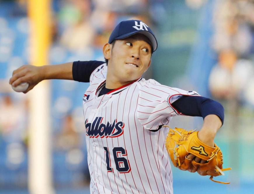 Hara leads Swallows to win over Tigers