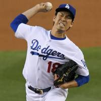 Maeda comes within two outs of first complete game in bigs