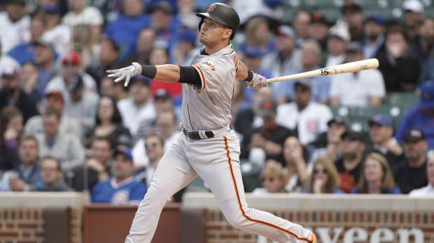 Giants' Panik rebounds from batting slump with big game against Cubs