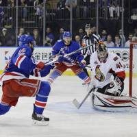 Lindberg scores pair as Rangers even series