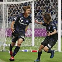 Latest leaders Gamba trying to hold position