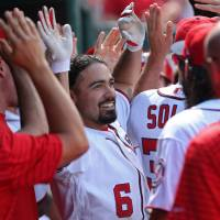 Nats' Rendon drives in 10, hits three homers