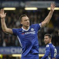 Chelsea's Terry scores in first start since September as 22-year tenure with team nears triumphant end