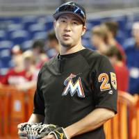 Marlins' Tazawa placed on disabled list with rib injury