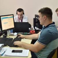Officers of Ukrainian Cyberpolice Department work in an office in the department building in Kiev on Thursday. The EU must boost its defenses against cyberattacks, which have fallen behind the modern world's reliance on the internet and mobile devices, the bloc's security chief warned Thursday. | AFP-JIJI
