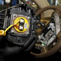 A recalled Takata airbag inflator is shown in Miami in  2015. | REUTERS