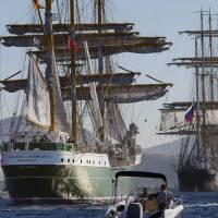 Boston hosts parade of more than 50 tall ships