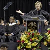 Clinton tells Medgar Evers College grads 'never let anyone silence your voice'