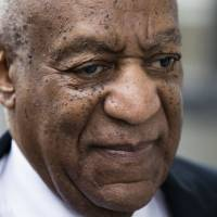 Bill Cosby arrives for his sexual assault trial at the Montgomery County Courthouse in Norristown, Pennsylvania, on Monday. | AP
