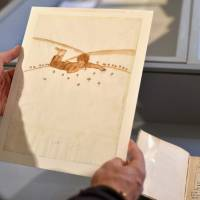 A drawing for 'The Little Prince' by Antoine de Saint-Exupery is shown at the Museum of Old Toulouse on May 17. | AFP-JIJI