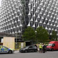 London police conduct controlled explosion near new U.S. Embassy, rule out terrorism