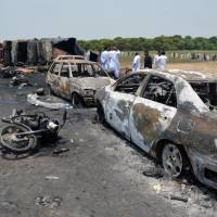 Pakistan raises death toll to 157 from fuel truck fire
