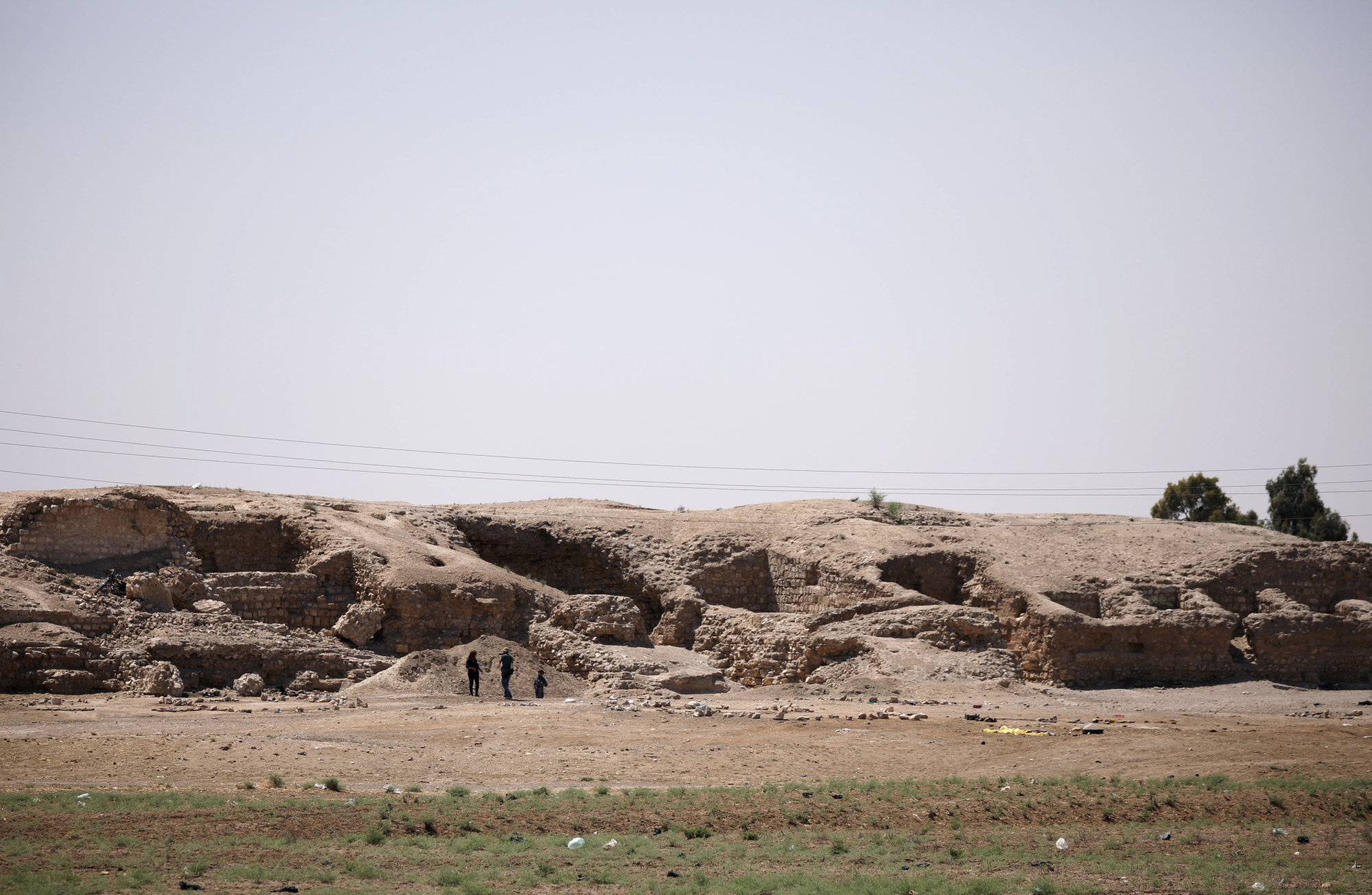 A general view shows the 1,000-year-old Harqalah fortress ruin, west of Raqqa, Syria, Sunday.   REUTERS