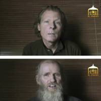 This photo combination image taken from video released Wednesday by Taliban spokesman Zabihullah Mujahid shows kidnapped teachers Australian Timothy Weekes (top) and American Kevin King, who were both abducted by the insurgents in Afghanistan in August 2016. In the video the two captives report the date as June 16, and say they are being treated well by the Taliban but that they remain prisoners and appeal to their governments to help set them free. | EL-EMARA TALIBAN / VIA AP