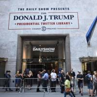 Trump gets a Twitter library courtesy of 'The Daily Show'