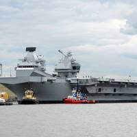 U.K.'s new, and only, aircraft carrier readies for maiden voyage