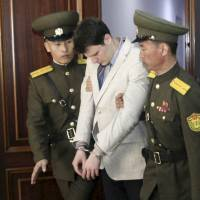 North Korea 'brutalized' student returned to U.S. in coma, says father
