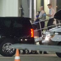 Otto Warmbier, a 22-year-old college student who had been detained and imprisoned in North Korea, is carried off of an airplane at Lunken Airport in Cincinnati on Tuesday. His parents have said he has been in a coma for more than a year, and was medically evacuated.   AP