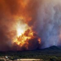 Thousands flee their homes as Arizona wildfire rages through forest
