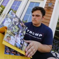 Trump thanks pair whose yearbook references to him had been deleted