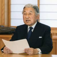 Emperor Akihito hints at his desire to abdicate in a rare video message aired last August. | IMPERIAL HOUSEHOLD AGENCY / VIA KYODO