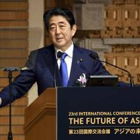 Abe offers conditional cooperation with China's Silk Road initiative