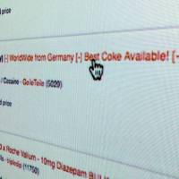 A PC monitor shows how illicit drugs are traded on an e-commerce site on the dark web. | SHUSUKE MURAI