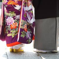 Data shows that a growing number of Japanese aged from their late 40s to early 50s have been marrying in recent years.   ISTOCK
