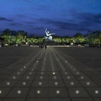 A photo shows an image of illuminations being planned at the Peace Park in the city of Nagasaki. | NAGASAKI MUNICIPAL GOVERNMENT / VIA KYODO