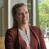 Beatrice Fihn, executive director of the International Campaign to Abolish Nuclear Weapons, speaks at an interview in Geneva on June 9. | KYODO