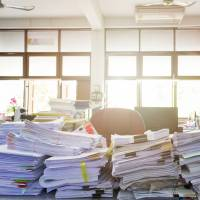 The Japan Paper Association says the demand for paper used for documents in 2016 increased 1.3 percent from the previous year to 1.84 tons.  | ISTOCK