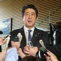 Abe plans to reshuffle Cabinet, LDP leadership to ease public anger over Kake scandal, conspiracy bill