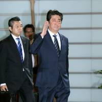 Prime Minister Shinzo Abe hopes to strengthen cooperation with his Chinese and South Korean counterparts. | AFP-JIJI