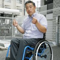Hideto Kijima, president of Japan Accessible Tourism Center, speaks in an interview Wednesday in Toyonaka, Osaka Prefecture. | KYODO