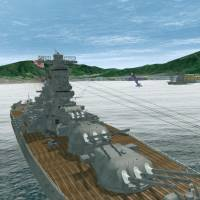 Using virtual reality technology, Fukuyama Technical High School in Hiroshima Prefecture is developing a 3-D tour of the battleship Yamato that lets visitors walk around the inside of the sunken warship. | KYODO