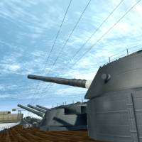 Fukuyama Technical High School's virtual reality re-creation of the battleship Yamato lets visitors take a virtual tour of the 263-meter-long vessel, which was sunk during the war. | KYODO