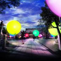 TeamLab: Floating Spheres of Omura Shrine & Resonating Forest and Castle Ruins