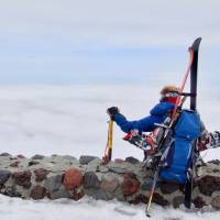 Cloud nine: The author ponders his trip down on the way up the Fujinomiya trail's ninth station (3,460 meters). | OSCAR BOYD