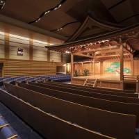 Open season: The interior of the Kanze Noh Theater in Ginza Six