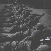 U.S. Marines are shown firing M16s in this bulletin advertising a shooting tournament at Camp Hansen, Okinawa. To steal a rifle, a suicidal marine told armory workers at the installation in 2014 that he wanted to practice for such a contest. | U.S. MARINE CORPS VIA FREEDOM OF INFORMATION ACT REQUEST