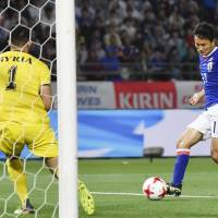 Japan warms up for World Cup qualifier with draw against Syria