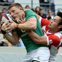 Ireland routs Japan for sweep