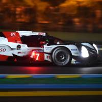Kamui Kobayashi had the fastest lap in qualifying for the upcoming 24 Hours of Le Mans. | AFP-JIJI
