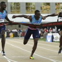 Gatlin outsprints Coleman to capture 100-meter title at nationals