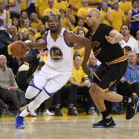 Superstar Kevin Durant joined the Golden State Warriors as a free agent before the season. He was named the MVP of the NBA Finals on Monday. | USA TODAY / VIA REUTERS