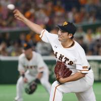 Giants ace Sugano fires three-hitter to get back on track