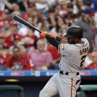 Rookie pitcher Blach, Span carry Giants past Phillies